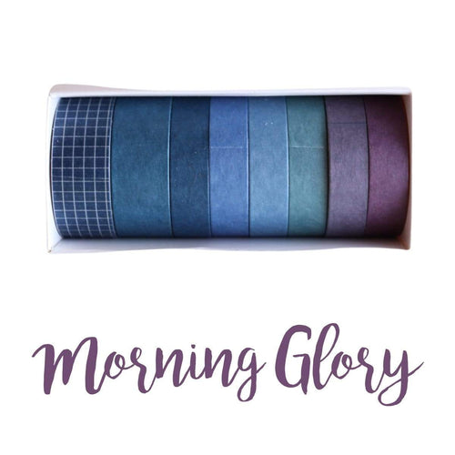 Washi Tape Morning Glory Japanese Recycled Washi Tape Palette Set