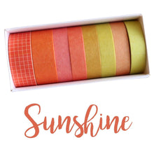 Load image into Gallery viewer, Washi Tape Sunshine Japanese Recycled Washi Tape Palette Set