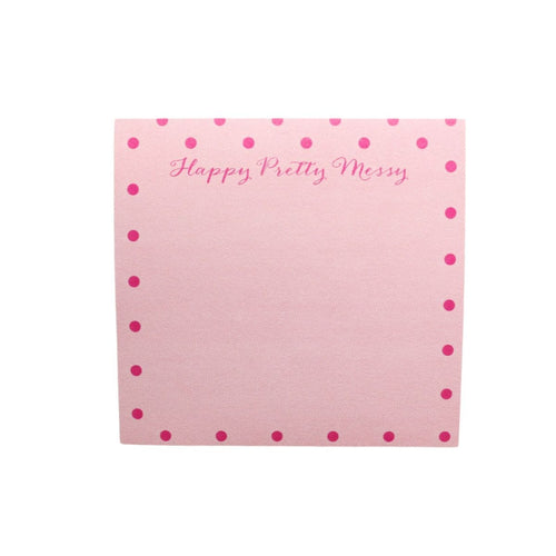 Writing Happy Pretty Messy Pink Post-It™  Note Pad
