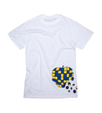 Apple Puzzle wraparound print t-shirt