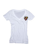 Rubik's Cube Little Heart deep V t-shirt