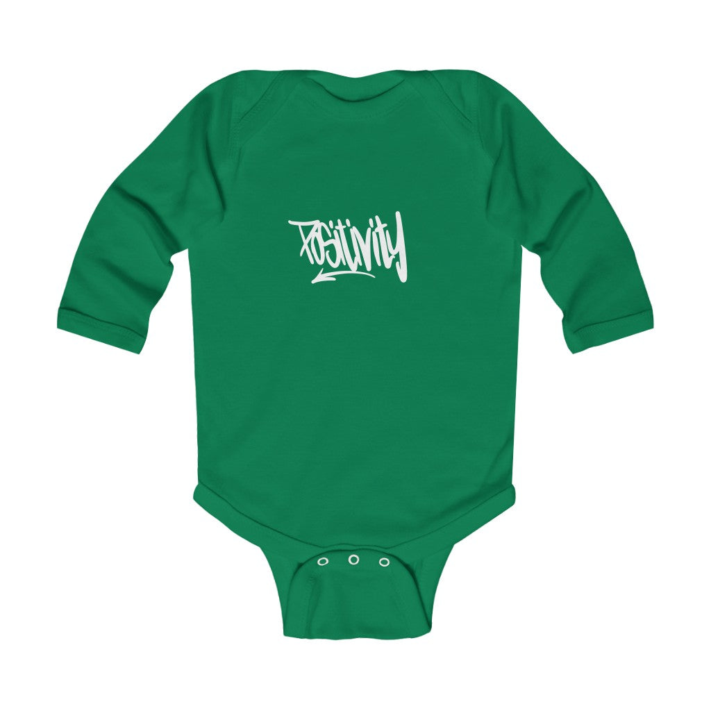 Infant Long Sleeve Bodysuit - Positivity