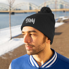 Load image into Gallery viewer, Pom Pom Beanie Hat - Positivity
