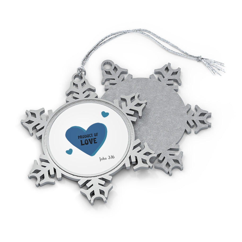 Pewter Snowflake Ornament - Product of Love