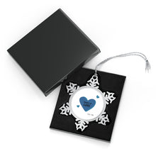 Load image into Gallery viewer, Pewter Snowflake Ornament - Product of Love