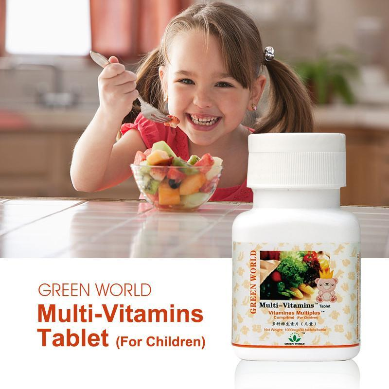 Multi-Vitamins Tablets (For Kids) - Green World Products Shop