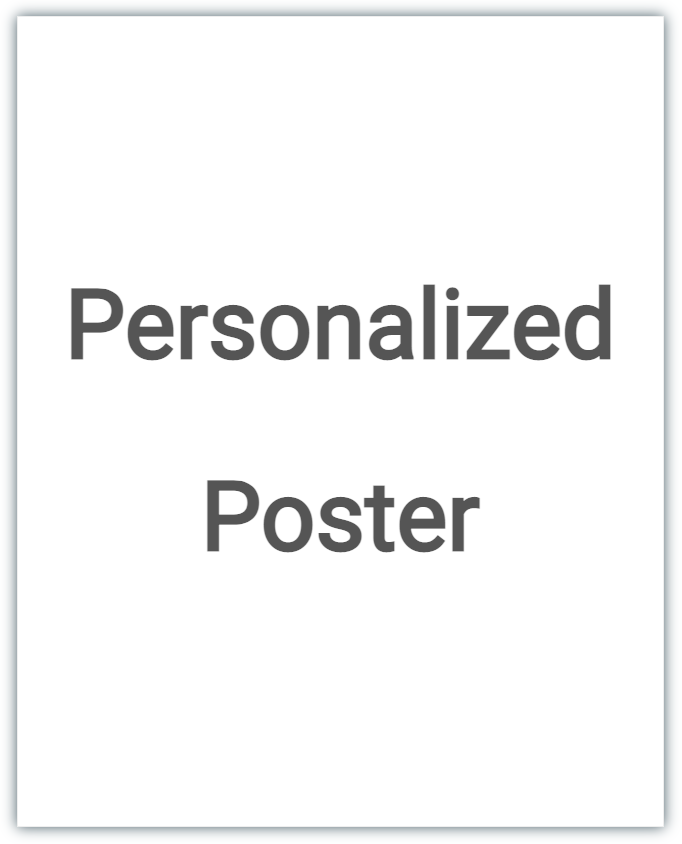 Personalized Gift Poster