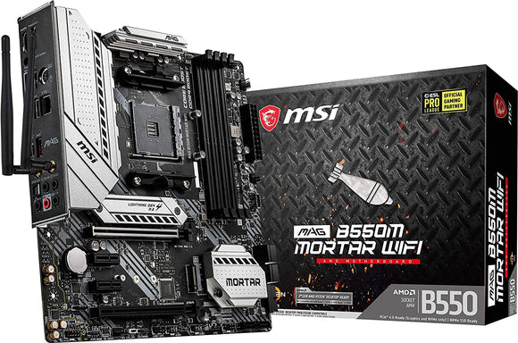 MSI MAG B550M Mortar WiFi - MicroATX AMD AM4 Motherboard