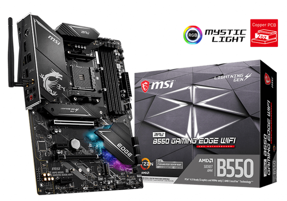 MSI MPG B550 Gaming Edge WiFi - ATX AMD AM4 Motherboard