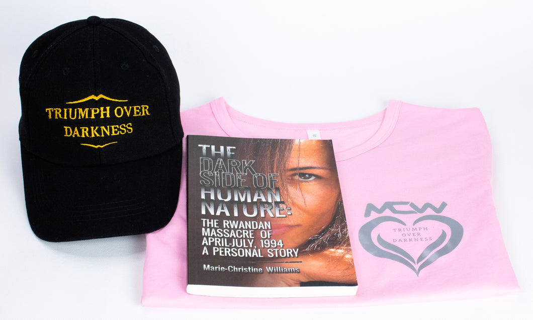 Book, Black Hat, and Pink T-Shirt