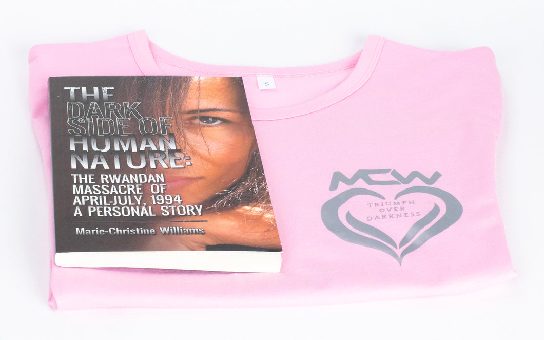 Book and Pink Shirt