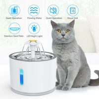 Pet Automatic Water Feeder Fountain - 2.4L