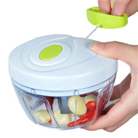 Hand pull garlic, meat and vegetables grinder / chopper