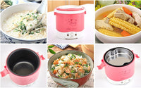 1L Portable Mini Electric Rice Cooker, Multicooker for home, car and truck usage