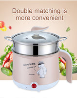220V Mini Multifunction Electric Cooker - Available in Single / Double Layer (Suitable for Steaming, Boiling, Frying etc)