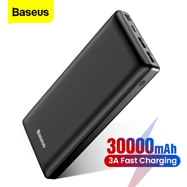 Baseus Power Bank - 30000mAH / Support Micro USB, USB Type C