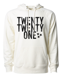 Twenty-Twenty-One Fleece Hoodie (Bone)