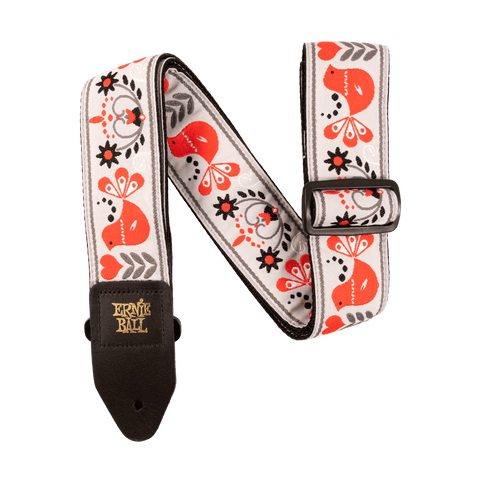 Ernie Ball 4689 RED BIRD WINTER JACQUARD STRAP