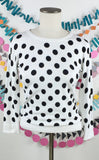 Sweetheart Polka Dot Sweater