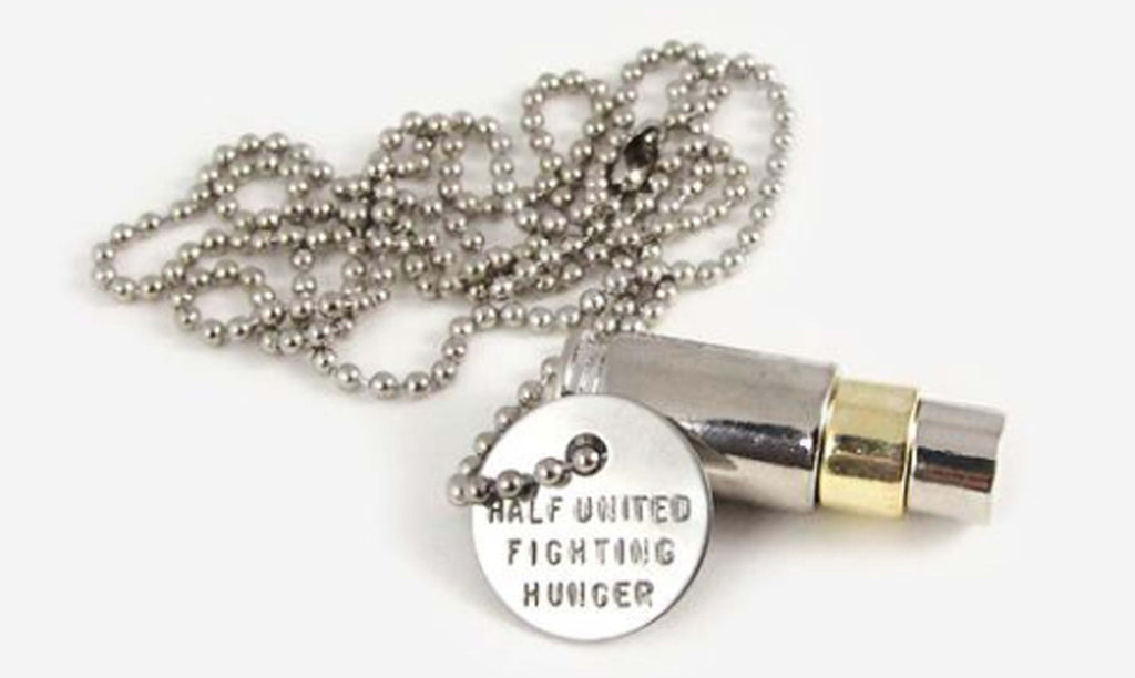 Half United Fighting Hunger Bullet Necklaces