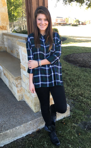 Moody Hues Plaid Button Up