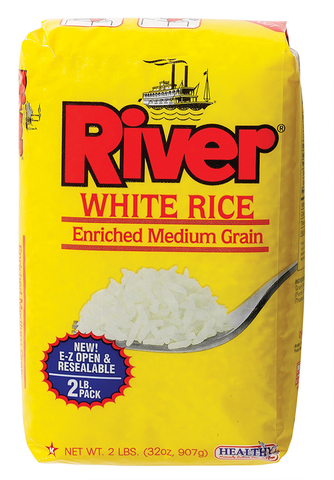 River Medium Grain White Rice 2 lb.