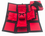 Crack of Dawn Crafts 3 Layered All Occasion Explosion Box - Red Drama