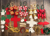 DIY Craft KIT - Christmas Tree Ornaments | 20 in 1 Paper Craft kit for Kids and Adults