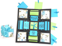 Crack of Dawn Crafts 3 Layered Happy Friendship Explosion Box - Blue Floral