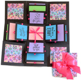 Crack of Dawn Crafts 3 Layered Happy Wishes Explosion Box - Purple Om