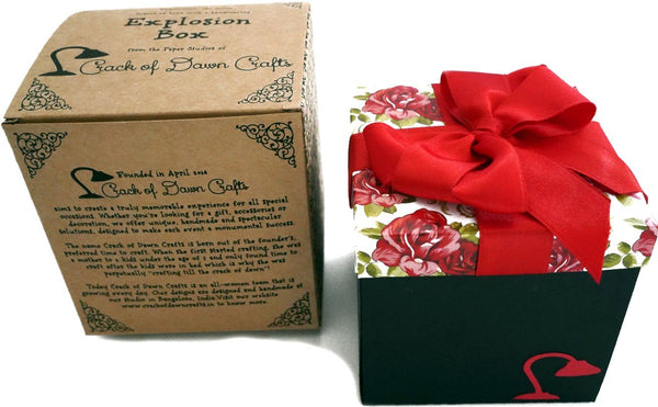 Crack of Dawn Crafts 3 Layered Happy Wishes Explosion Box - Rose Garden