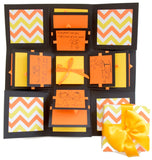 Crack of Dawn Crafts 3 Layered Happy love Explosion Box - Yellow Chevron