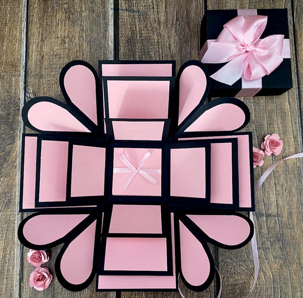 Romantic Heart Explosion Box - Pink Passion