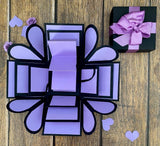 Romantic Heart Explosion Box - Purple Passion