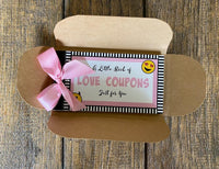 Naughty Love Coupons Vouchers - Pink Passion