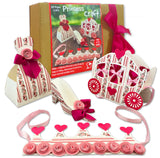 DIY Craft KIT - Pink Princess | 4 in 1 Paper Craft DIY kit for Kids and Adults