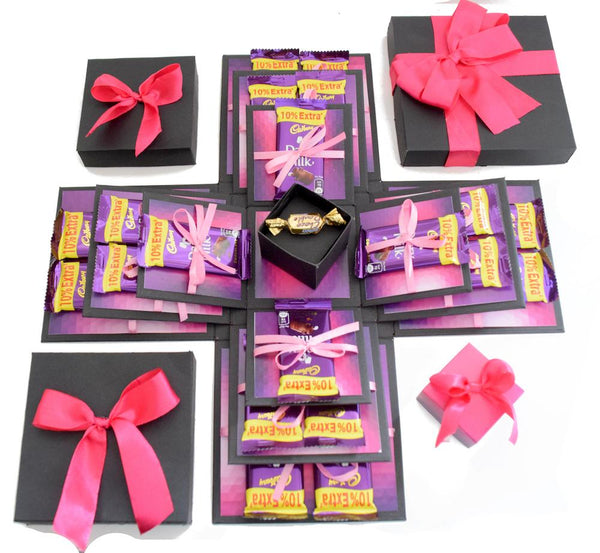 Crack of Dawn Crafts 3 Layered- Chocolate Explosion Box Purple Passion