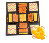 3 Layered Happy Birthday Explosion Box - Yellow Chevron