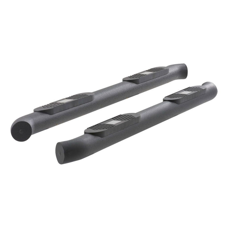 "BIG STEP 4"" BLACK ALUMINUM ROUND SIDE BARS, SELECT SILVERADO, SIERRA 2500, 3500"