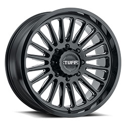 Tuff A.T. Wheels T5A Gloss Black Milled Spokes