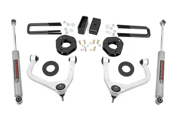"3.5"" SUSPENSION LIFT KIT W/ FORGED UPPER CONTROL ARMS (19-21 CHEVY 1500 PU 4WD/2WD)"