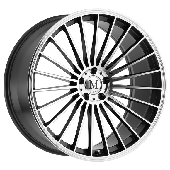Mandrus Wheels Model 23 Gloss Gunmetal w/ Mirror Cut Face