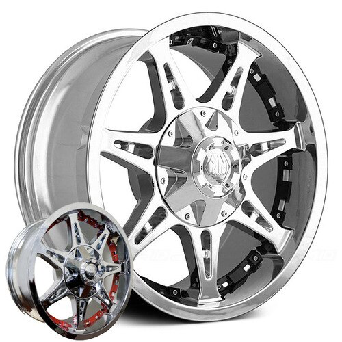 Mayhem Wheels Missile 8060 Chrome