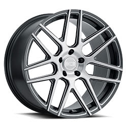 XO Luxury Wheels Moscow - Gunmetal with Machined Face