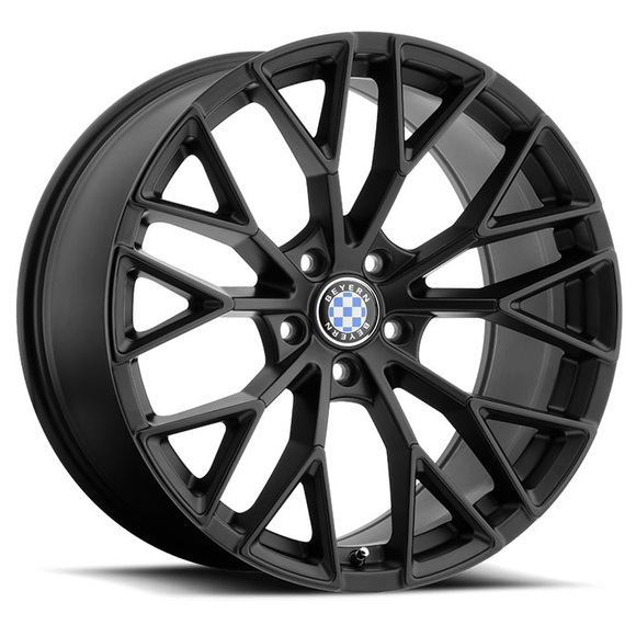 Beyern Wheels Antler - Matte Black w/ Gloss Black Face