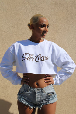 Color-Cocoa  Cropped Crewneck