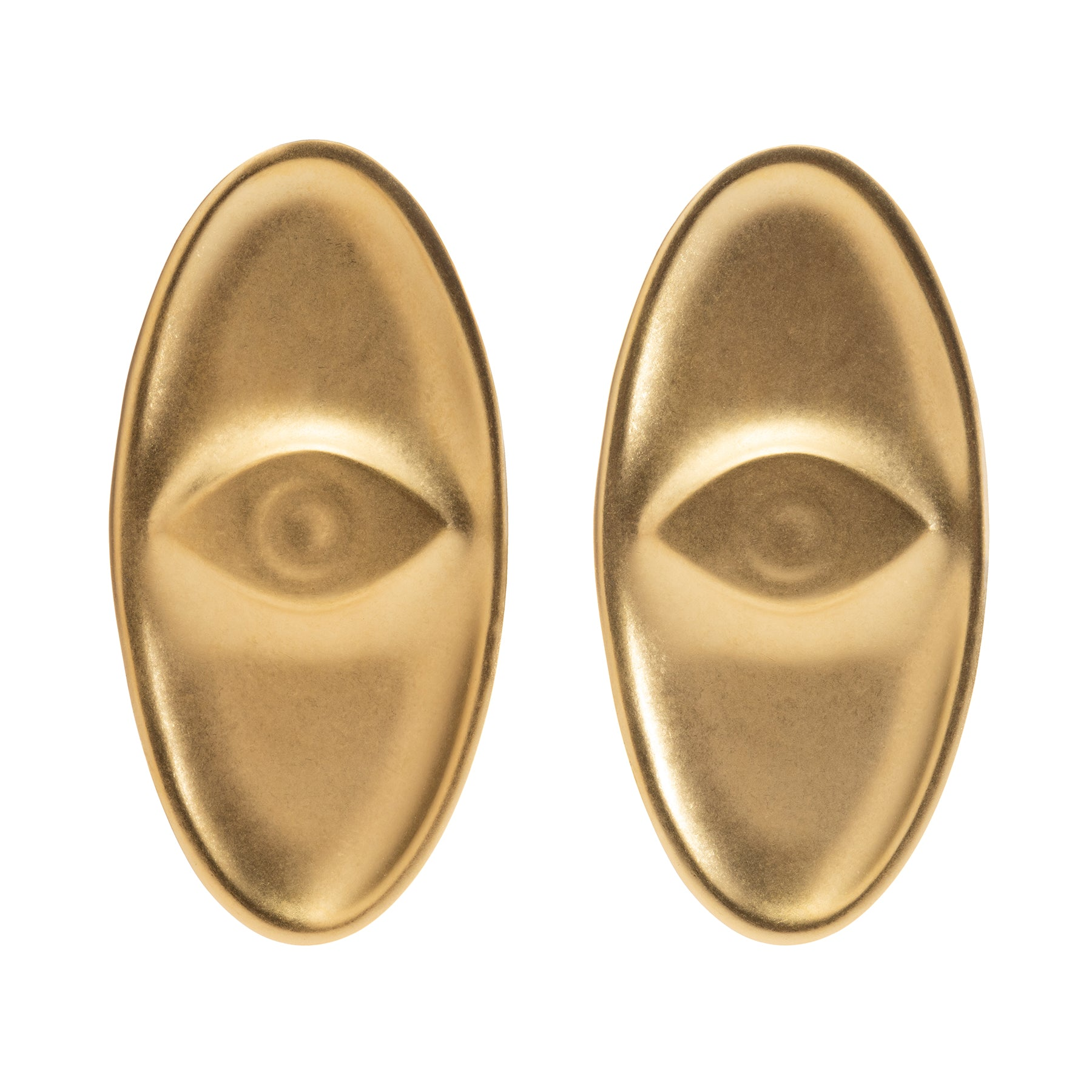 Amulet Earrings,Eye, Gold