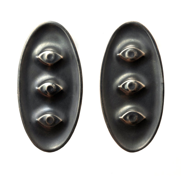 Amulet Earrings, Triple Eyes
