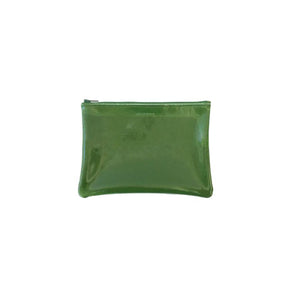 Medium Zip Pouch, Patent Monstera