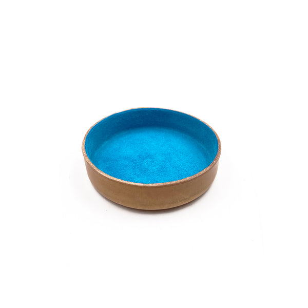 Leather Jewelry Tray, Small Turquoise Blue
